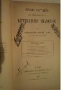 Etudes critiques sur l histoire de la litterature Francaise par Ferdinand Brunetiere