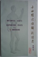 Anatomical charts of the acupuncture points and 14 meridians
