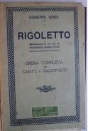 Giuseppe Verdi. Rigoletto. Opera cmpleta per canto e pianoforte